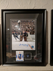 Autographed johnny bower toronto maple leafs 8x10