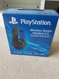 Sony PlayStation Wireless Stereo Headset 2.0 - **NEW Un-opened**
