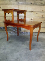 Solid Oak Step Table