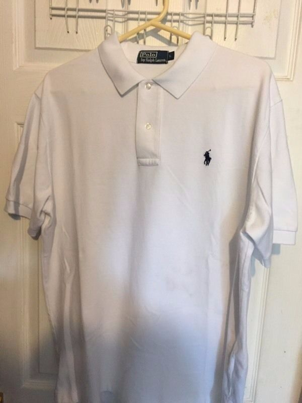 Ralph Lauren Polo Tshirt (White, Large)