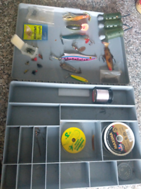 Box of fishing bits.