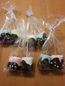 Homemade chocolate marshmallow loot