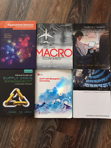 SELLING SEVERAL BUSINESS TEXTBOOKS