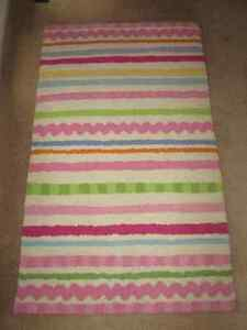 Pottery Barn Kids Girls Ric Rac Stripe Rug - 3x5