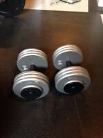 2 x 70 lbs Northern Lights Fixed Dumbbell Weights