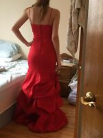 Red mermaid evening/prom dress size small