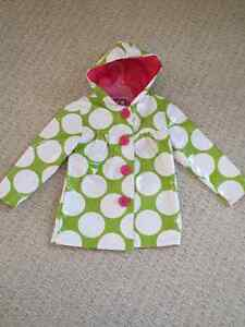 Girls Polka Dot Raincoat - size 4