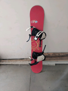 Snowboard with bindings and Burton boots- 300$