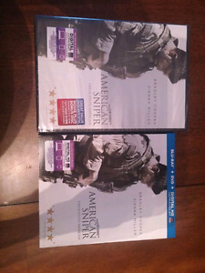 American sniper DVD and Blue-Ray