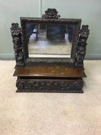 Antique dresser/bathroom mirror.