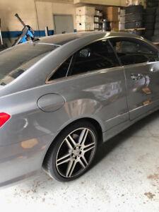 "Mercedes Audi VW 5x112 19"" OEM rims with P zero all season low P"