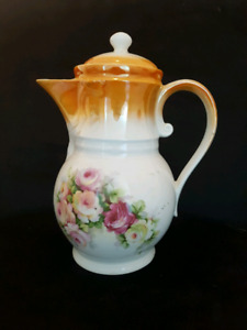 1940's Made in Germany Large Antique Ceramic Tea Pot - Stamped
