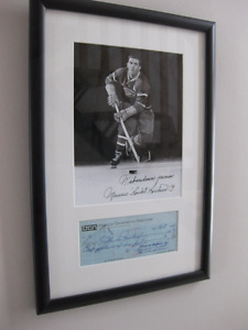 MAURICE RICHARD AUTOGRAPHE  PHOTO & CADRE