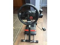 Logitech GT Driving Force with stand and pedals