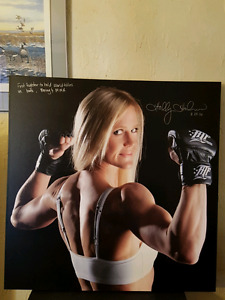One of a kind Canvas painting of Holly Holm.