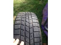 Used 185/55/15 good tyre on vauxhall 4 stud rim 07594145438