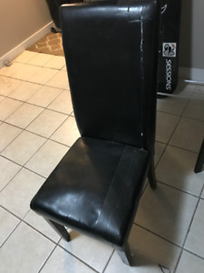 2 Black Dining Chairs