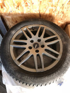 Winter tires : 4 Nokian studded  205 55 r16 on allow wheels
