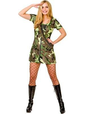 Ladies Sexy Army Girl Fancy Dress Costume Soldier - Sexy Army Uniform