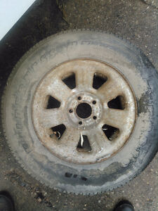 3 rims and tires off Ford ranger