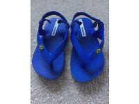 Children's iPanema blue flip flops