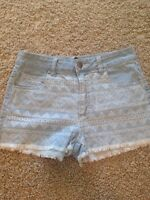 Like new Denim and Aztec shorts (Forever 21)