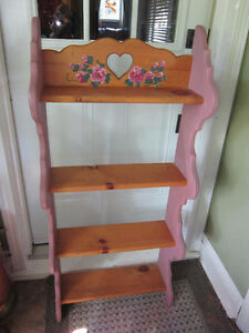 Cheerful Painted - Wooden Stand with Shelves