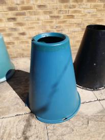 2 plastic cones