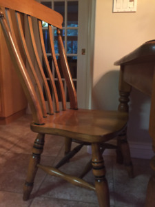 Set of six beautifully crafted solid pine chairs