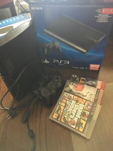 500GB PS3 console Two controllers with 5 games