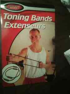 2 Piece Toning Bands Extension Exercise Kit with Instructions