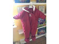 Mothercare snowsuit 6-12 months
