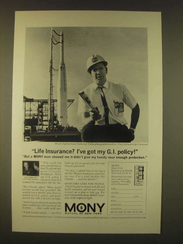 1963 MONY Mutual of New York Ad - Life insurance? I