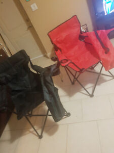 2 Camping chairs ( adult size )