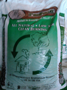 Hardwood wood pellets