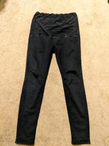M/L maternity black pants