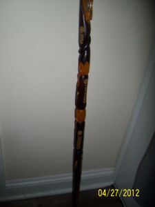 HAND CARVED WALKING STICK  FOR SALE