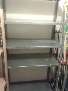 2 pc of metal shelvs only from shelving unit