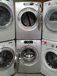 set washer / dryer samsung front load 27""