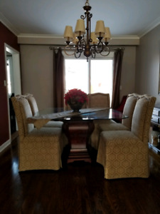 BOMBAY HAMILTON DINING TABLE AND CHAIRS