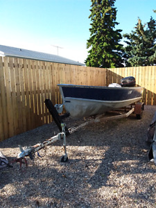 16ft Lund Fishing Boat with Trailer