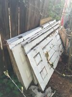 Used doors for sale.