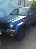 "Jeep liberty with 3"" rough country lift kit"
