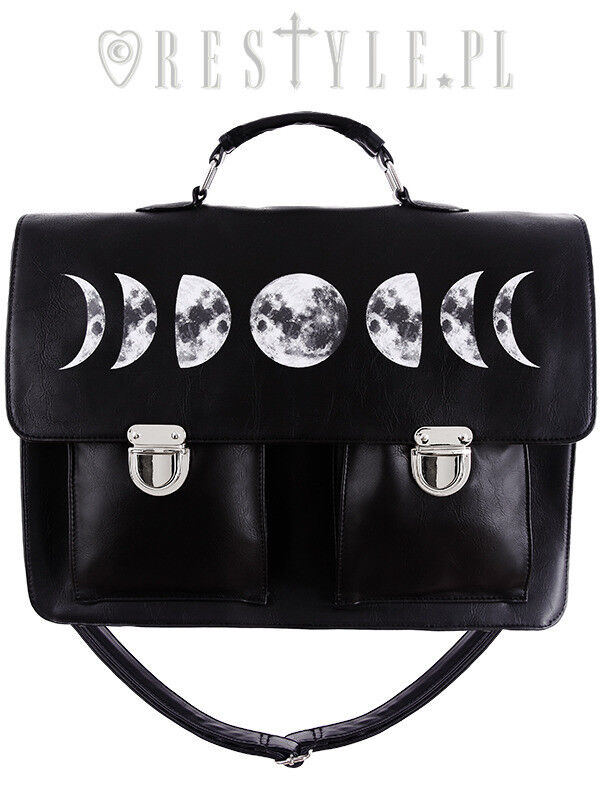 Restyle Moon Cycle Satchel Gothic NuGoth Emo Punk Vegan Brie
