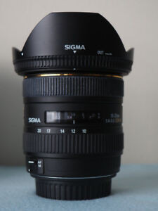 Sigma 10-20mm f4-5.6 EX DC HSM Lens for Canon mount