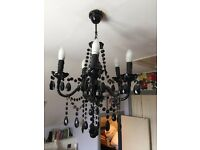 chandalier: large black electric