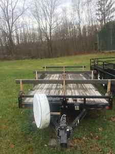 2008 car trailer with removable racks