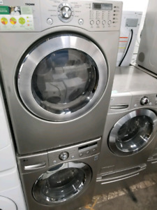 STACKABLE FRONT LOAD LG LAUNDRY SETS