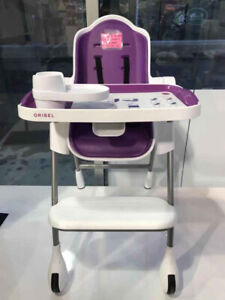 Oribel Cocoon 3 Stage Modern High Chair-Plum(Floormodel)Reg:$300