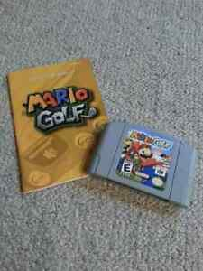 Mario Golf N64 with instructions.  London Ontario image 1
